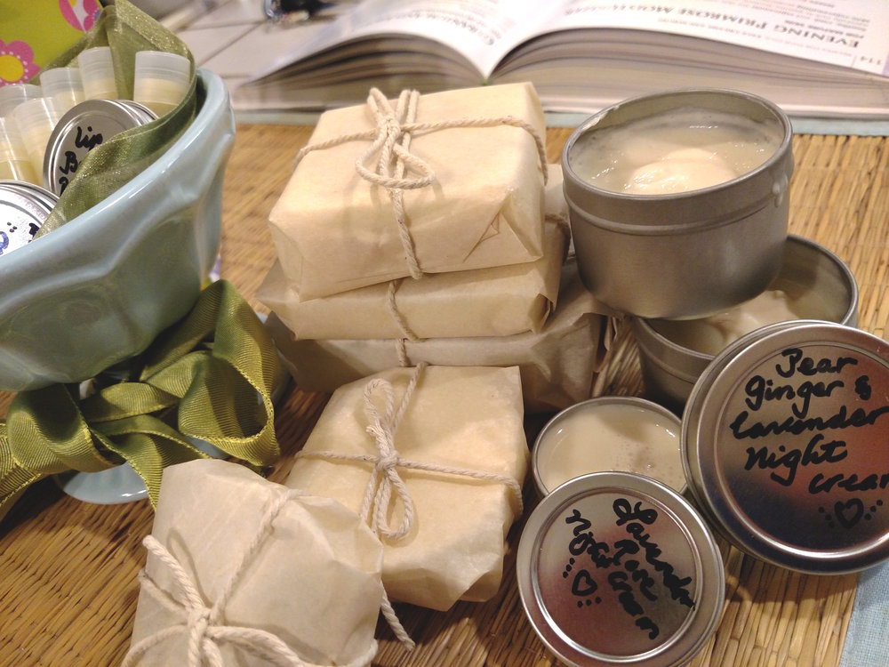 Making soaps and lotions.2015