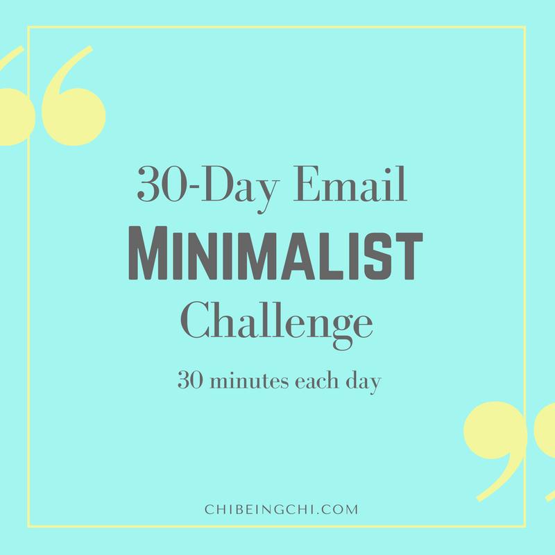 30 day email minimalist challenge