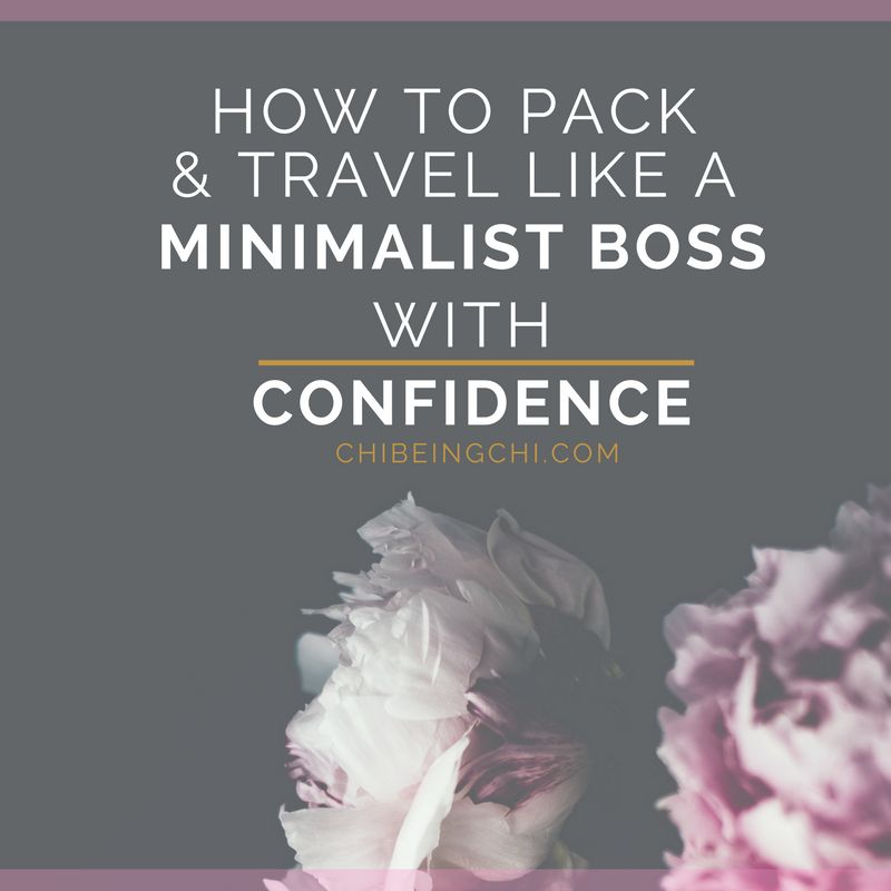 Pack like a minimalist boss