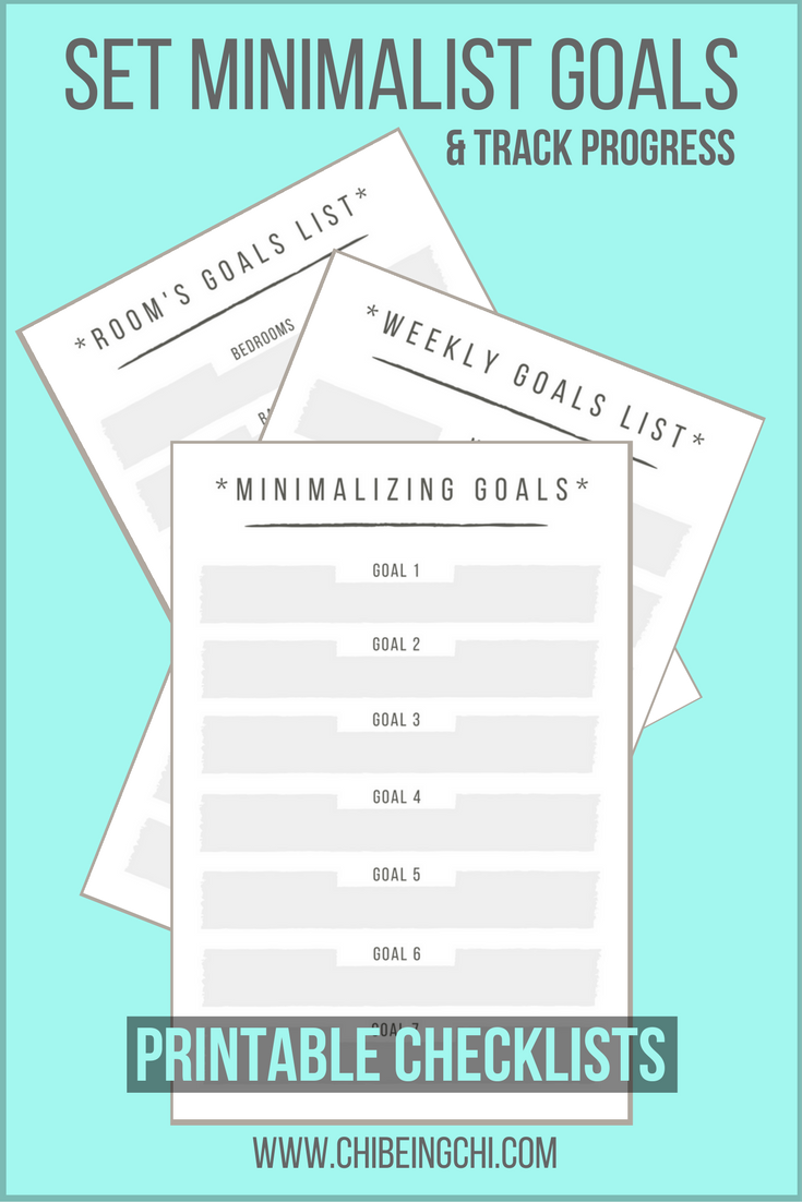 Printable Minimalist Goals Checklists