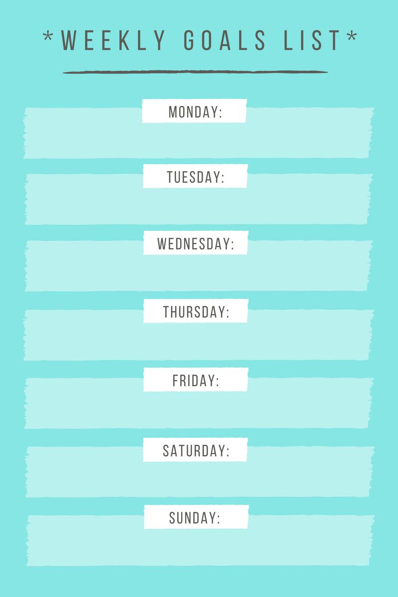 Weekly Gratitude Goals