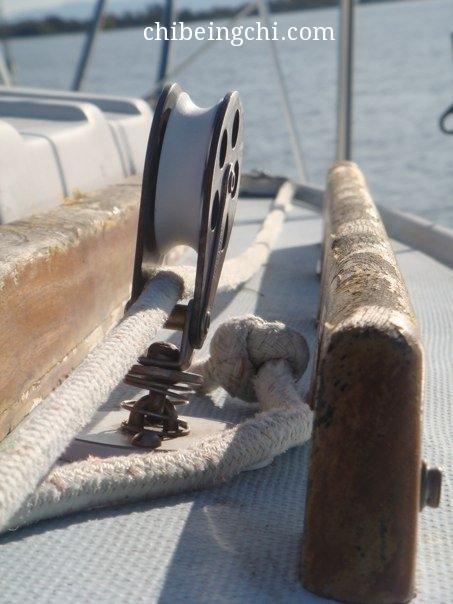 Sailing in the Sacramento Delta.