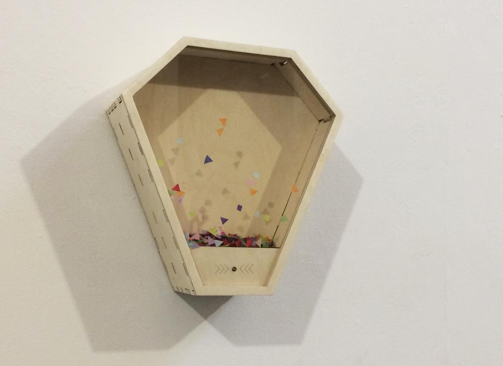 Saskia Freeke,  Confetti Machine , 2017, interactive installation