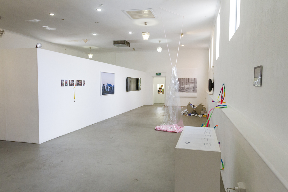 """""""Keep Running"""" install view, Paper Mountain, 2015"""