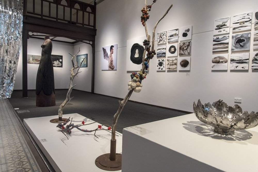 View of installed exhibition, Bunbury Regional Art Gallery, 24 February - 13 May 2018