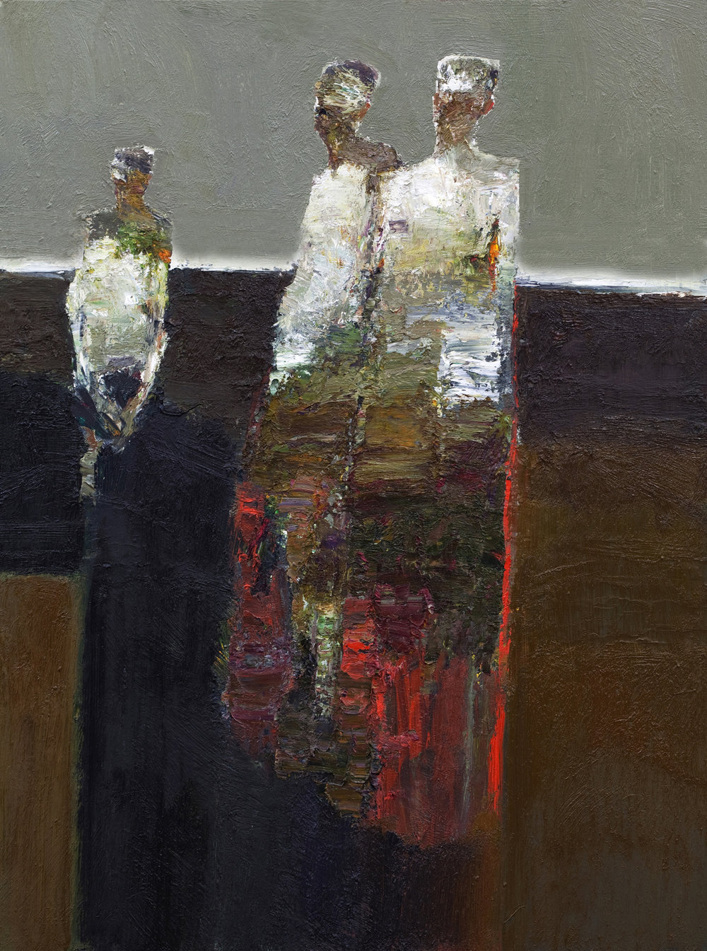 """""""EXPOSED""""  24X18 in. 61x46 cm.  oil on board  2015"""