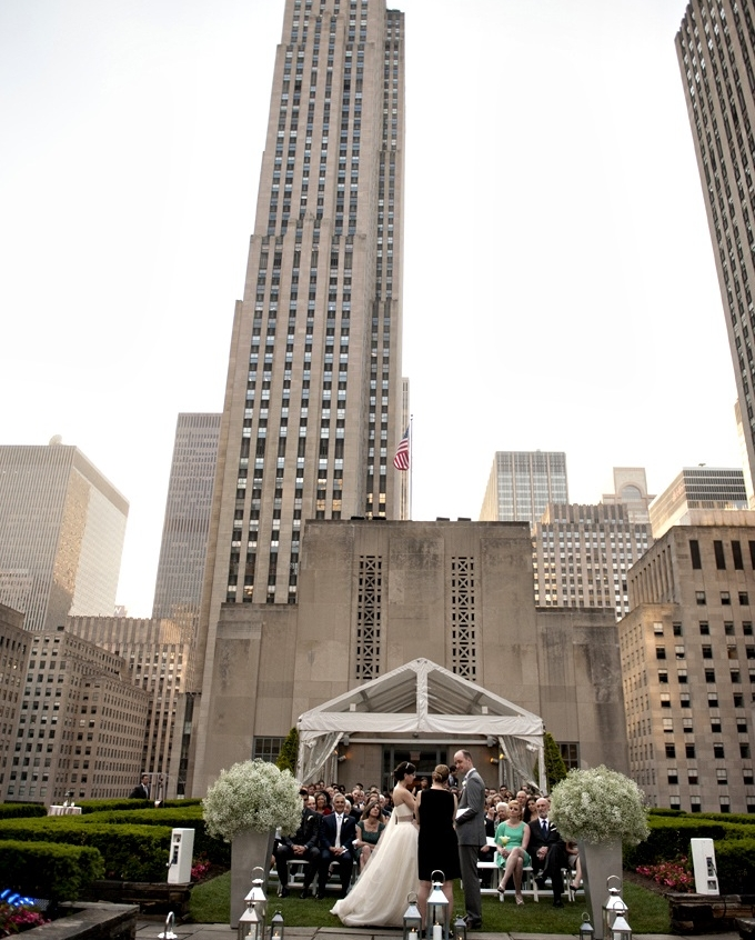 rooftop garden wedding  -