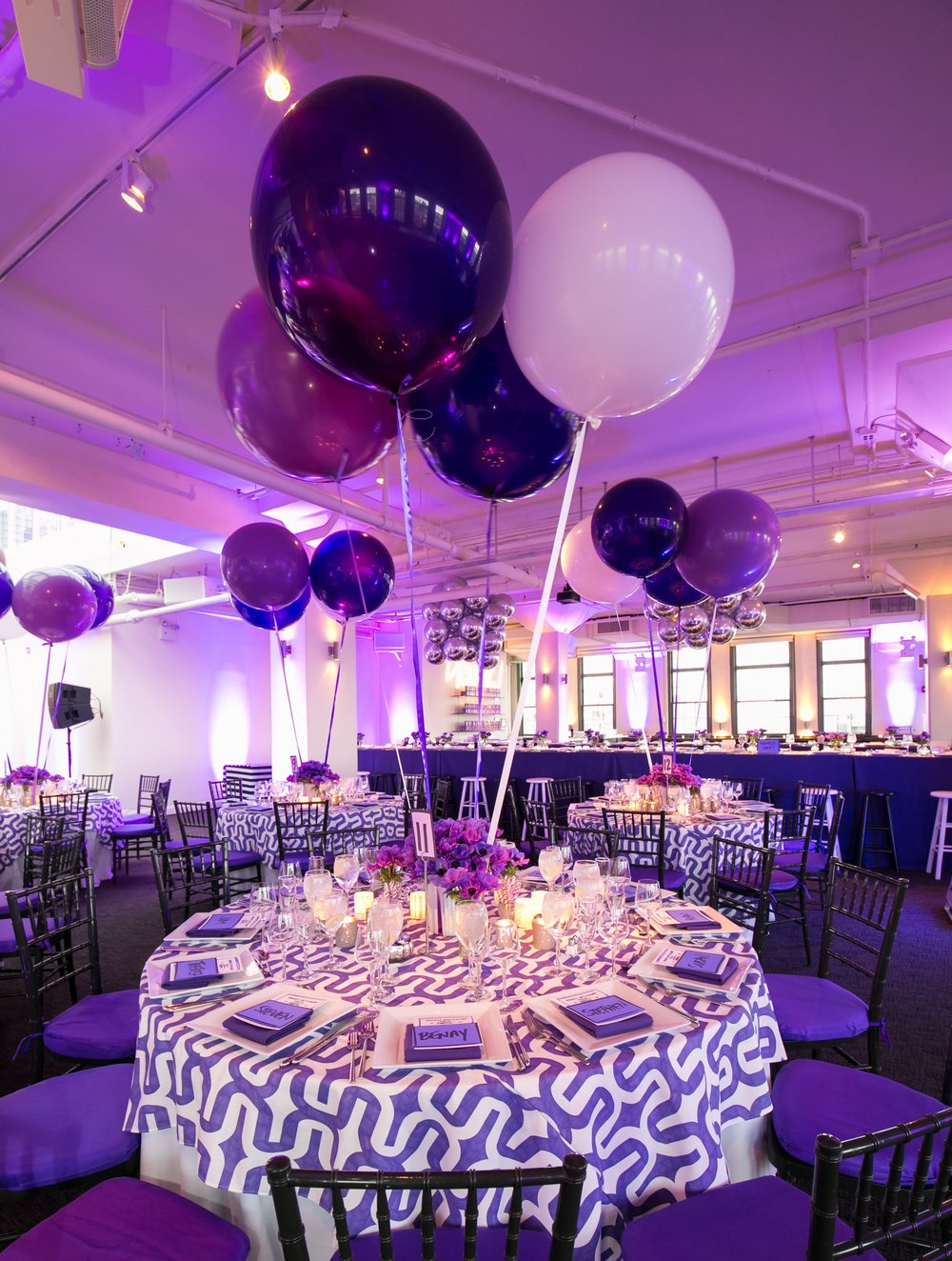 pop of purple bat mitzvah -