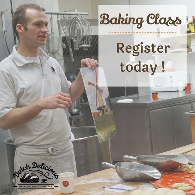 Many people enjoy baking at home, but don't always get the desired results. Learn from the baker himself by registering for a class today ! Today only enjoy a savings of 10% on any class. Offer valid May 16, 2018 only. #neverstoplearning #bakingclass #whenyoulearnyougrow #dutchdeliciousbakery