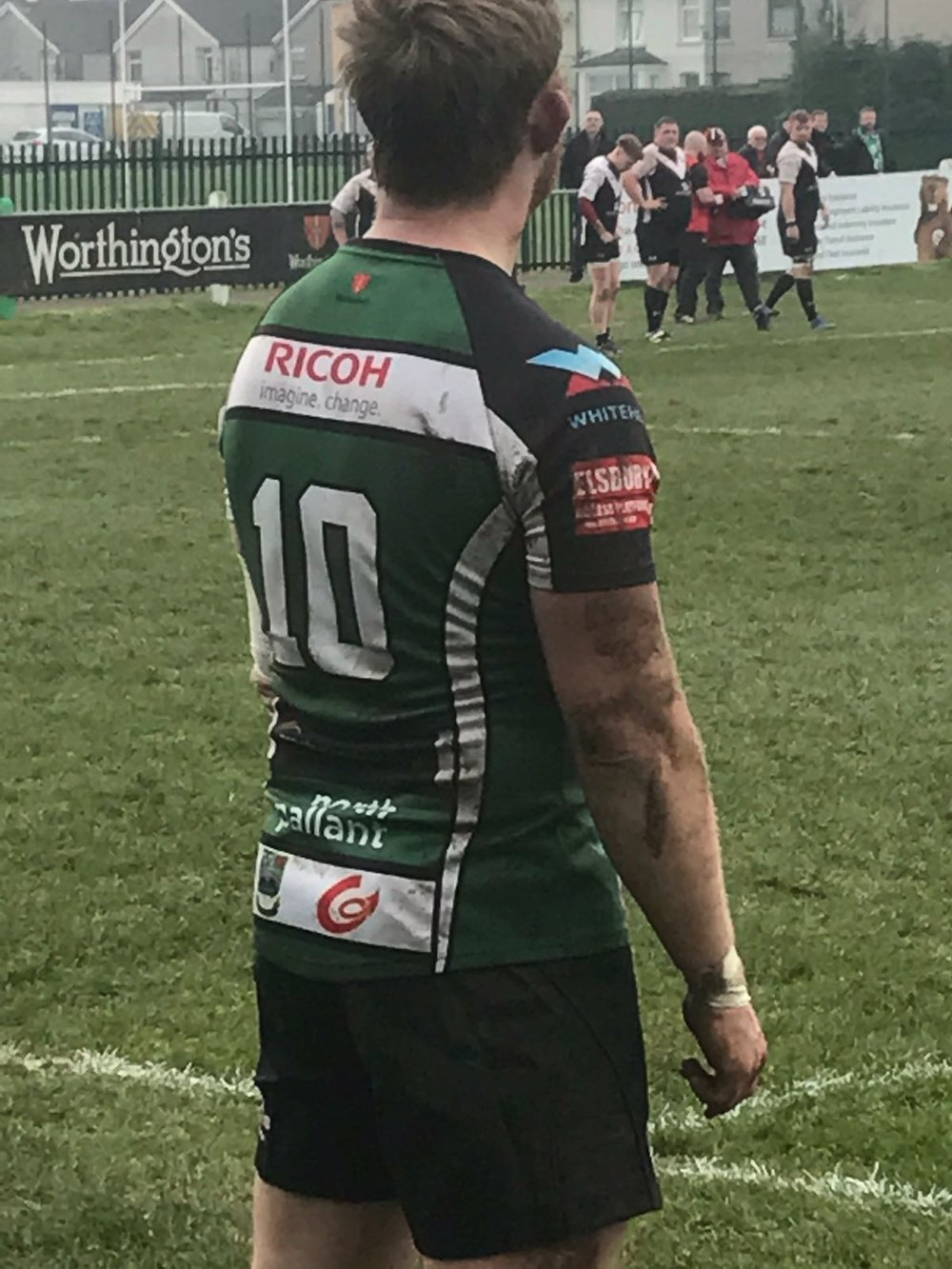 Regional Touch: Caerphilly with the Region's logo on their strip