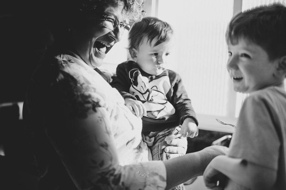 Fotografia de família com os netos