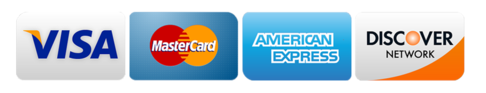 We are glad to accept cash, check, Visa, MasterCard, American Express, or Discover