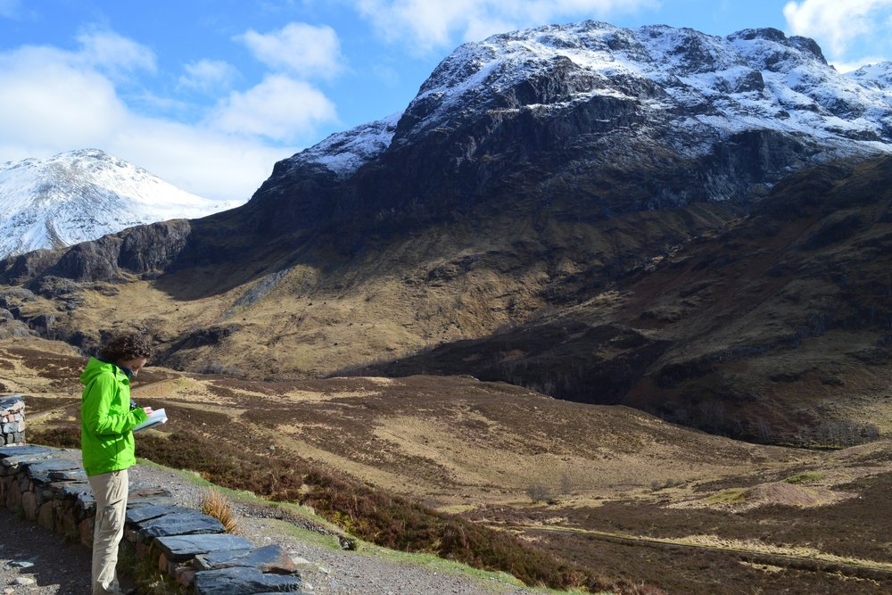 Geology stop at Glen Coe, Scotland