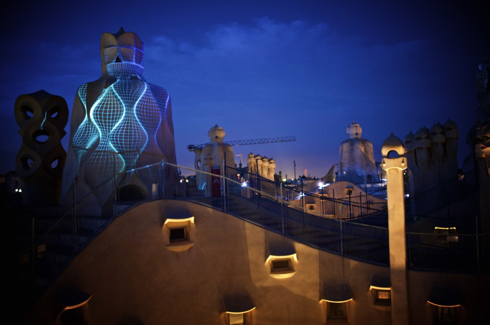 Rooftop show on La Pedrera
