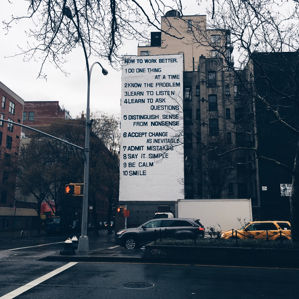 Wise words of NYC street art