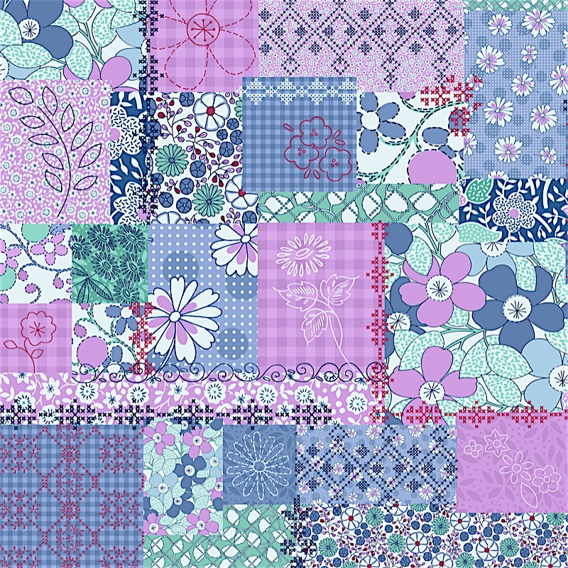 2922-002 COLLAGE - LILAC