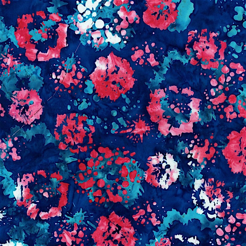 2814-002 INK FLORAL - AMERICAN BEAUTY