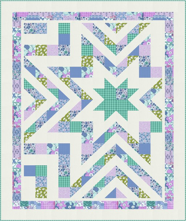 """Star Struck"" Free Pattern designed by Wendy Sheppard from RJR Fabrics"