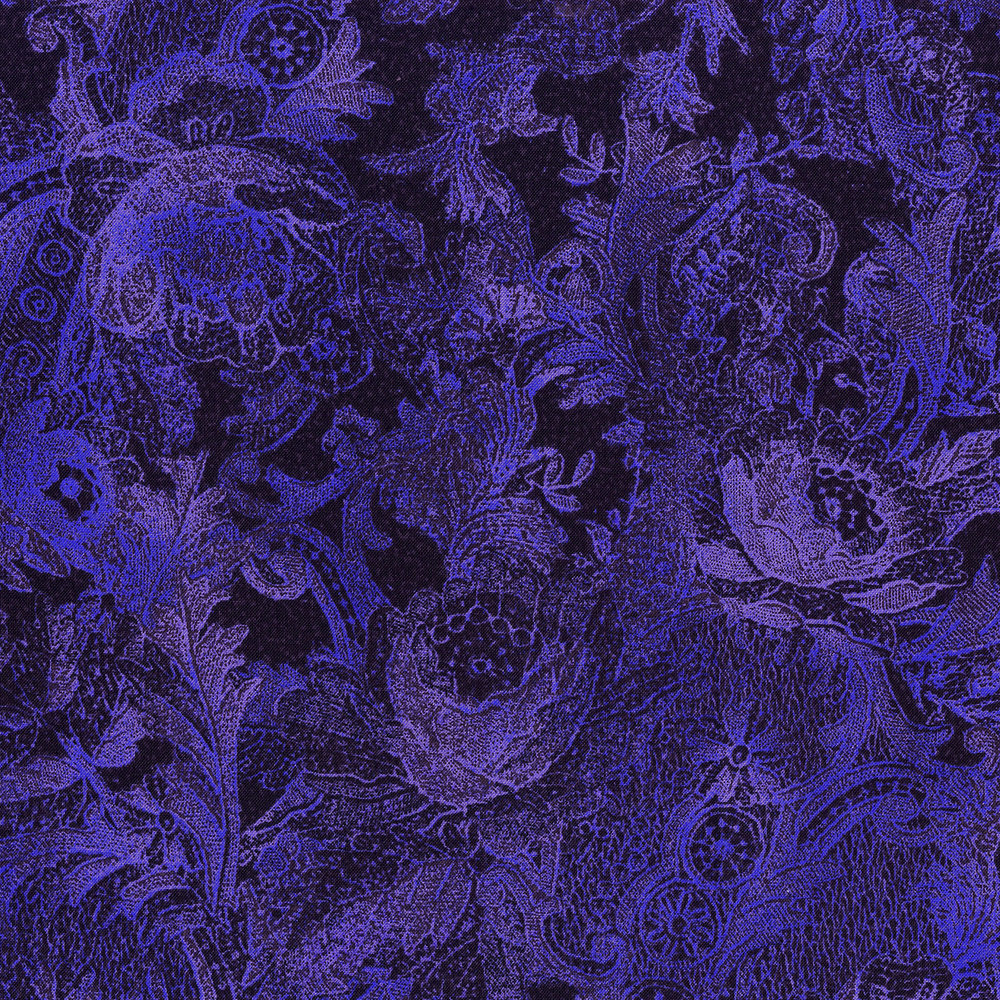 3011-005 PAISLEY-PERIWINKLE