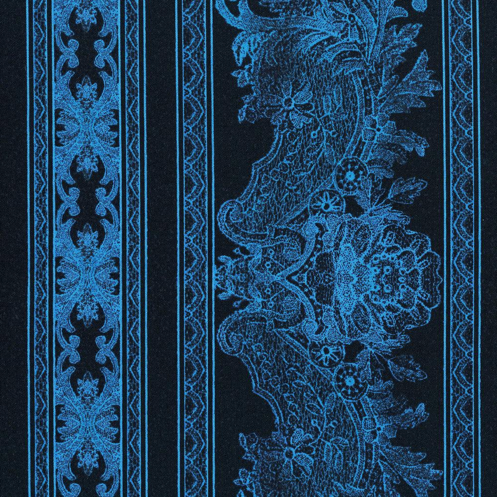 3012-004 LACE BORDER-BLUE