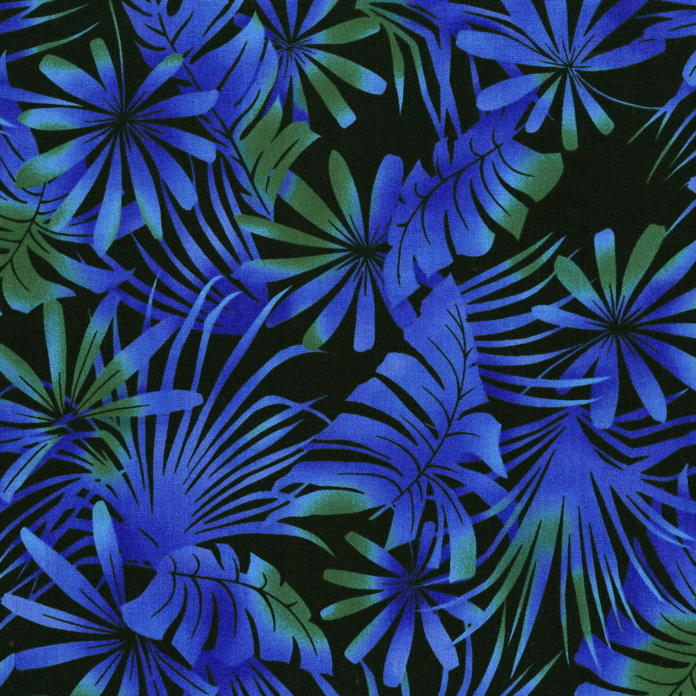 3013-003 PALM LEAF-BLUE