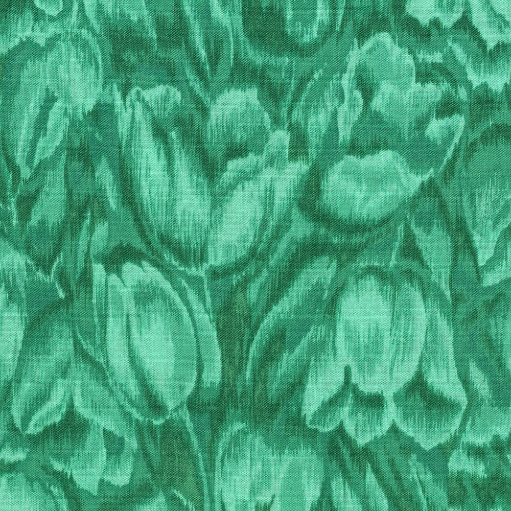 3016-004 TULIPS-TEAL
