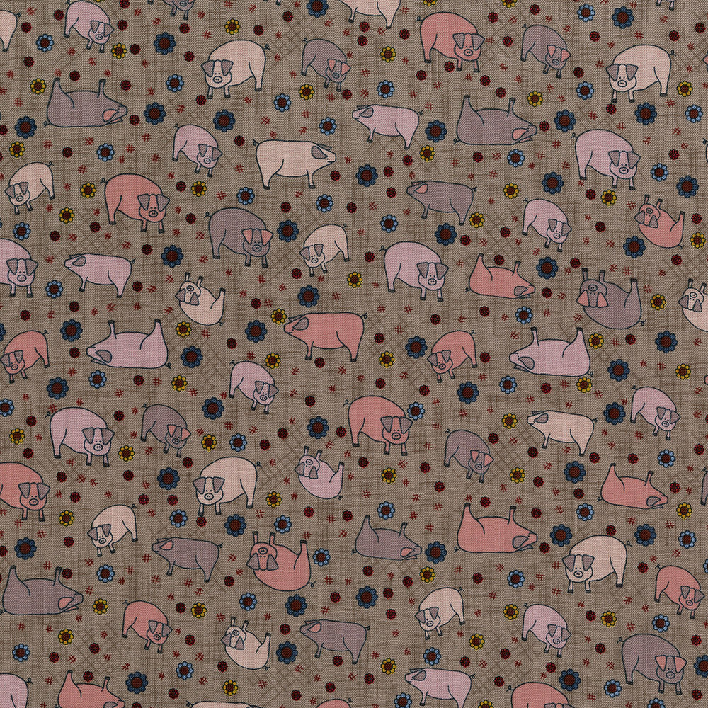 3043-002 PIGS IN THE MUD-CLAY