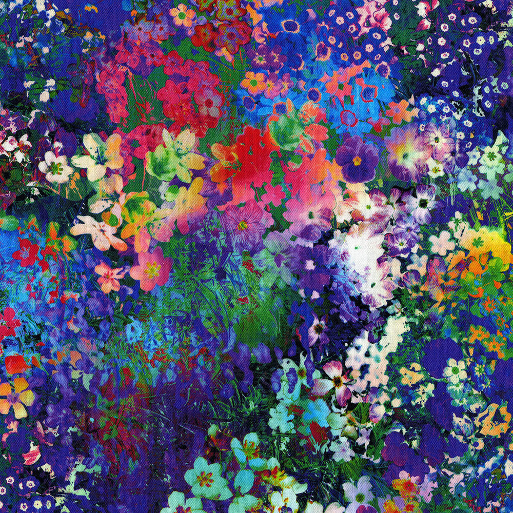 3089-001 FLORAL IMPRESSIONS-MULTI