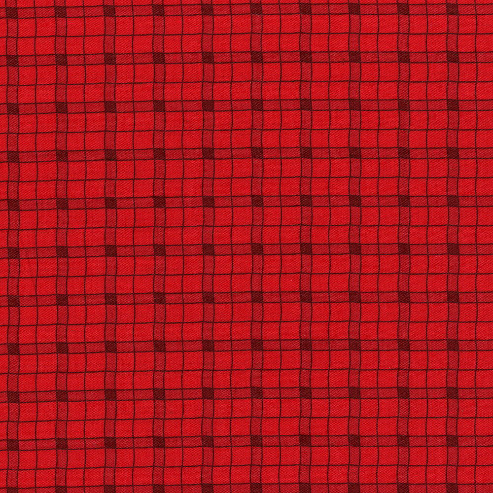 3032-001 LOGGER PLAID-FIRETRUCK RED