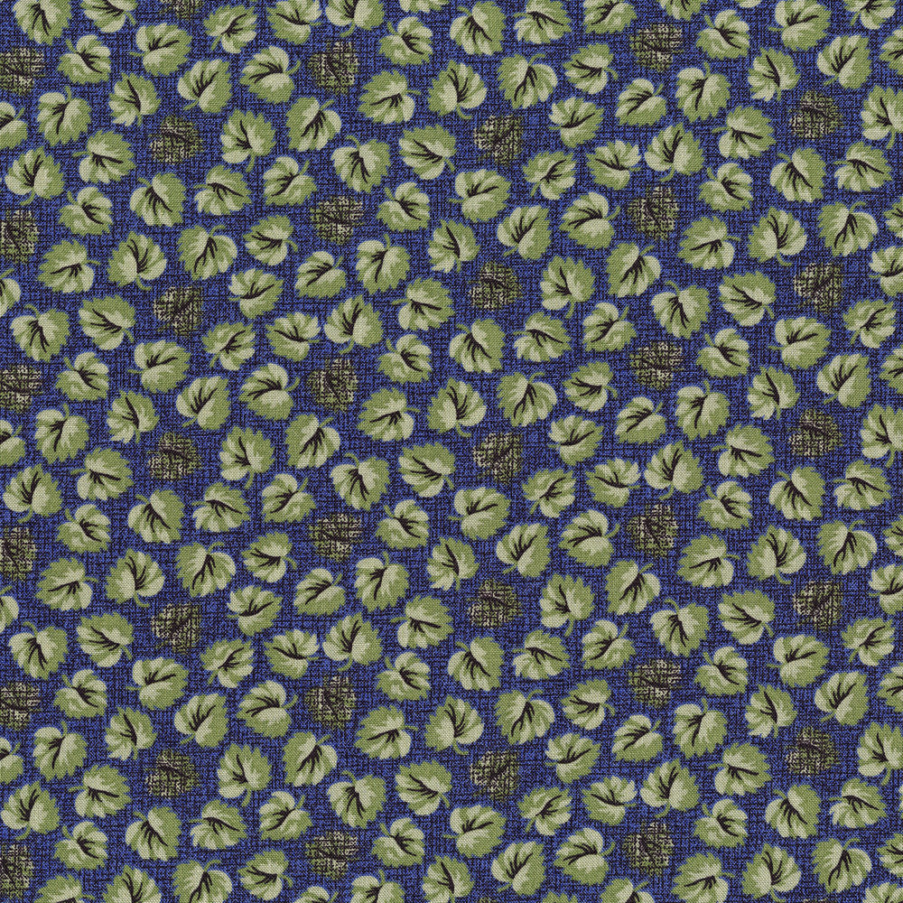 3054-001 FLOATING LEAVES-NAVY