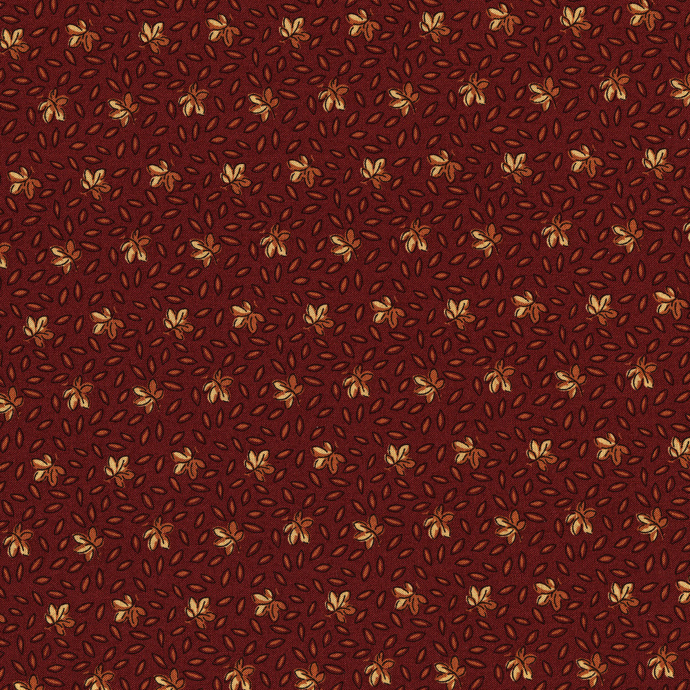 3055-001 LEAF SPRINKLE-BRICK RED