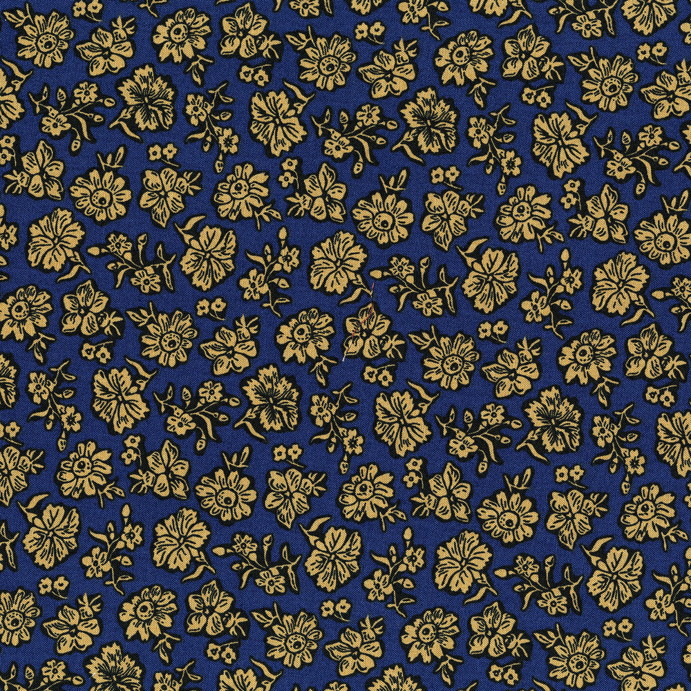 3057-001 SHADOW FLOWER-NAVY