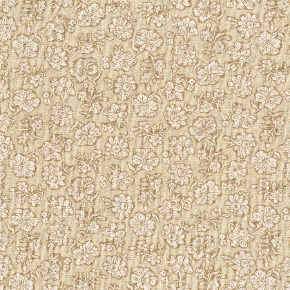 3057-003 SHADOW FLOWER-CREAM