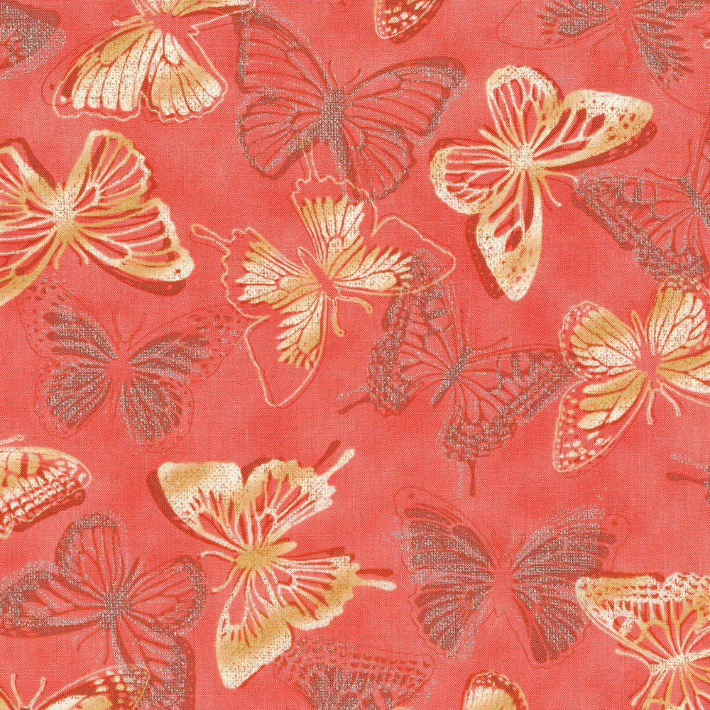 3020-002 BUTTERFLY BOURREE-CORAL