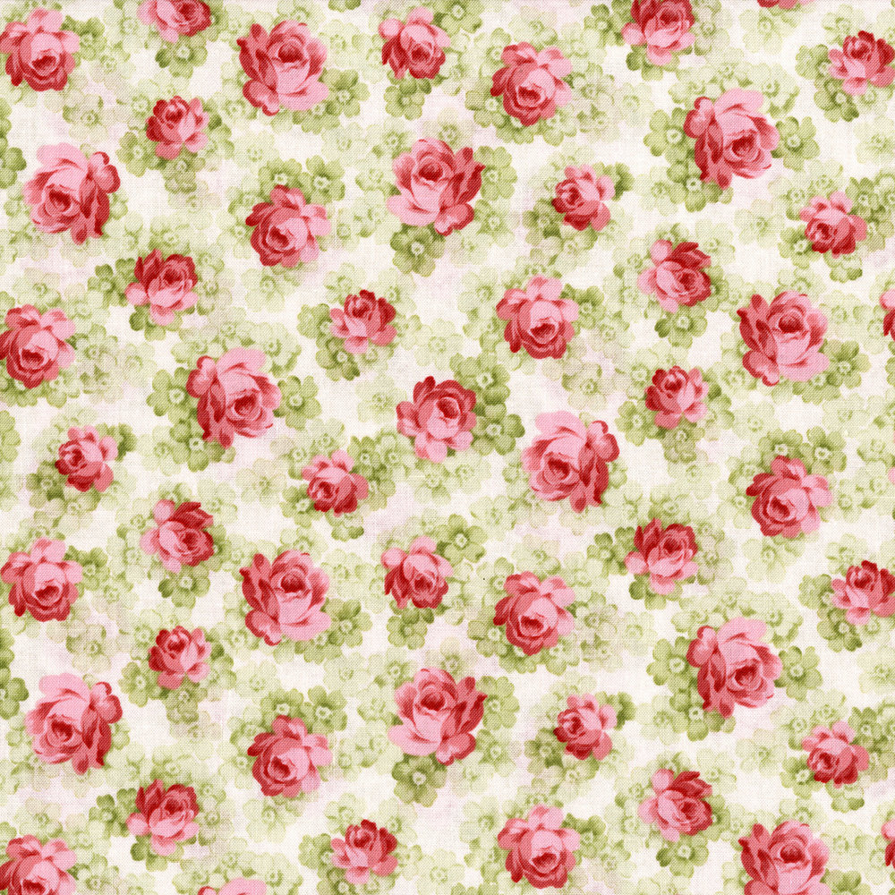 2934-001 WILD ROSE-FRENCH STRIPE