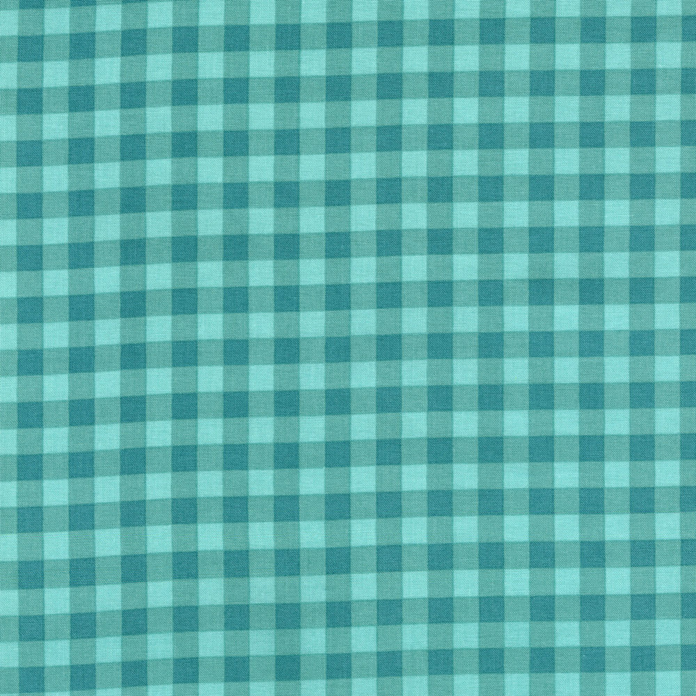 2928-002 LARGE GINGHAM - TEAL