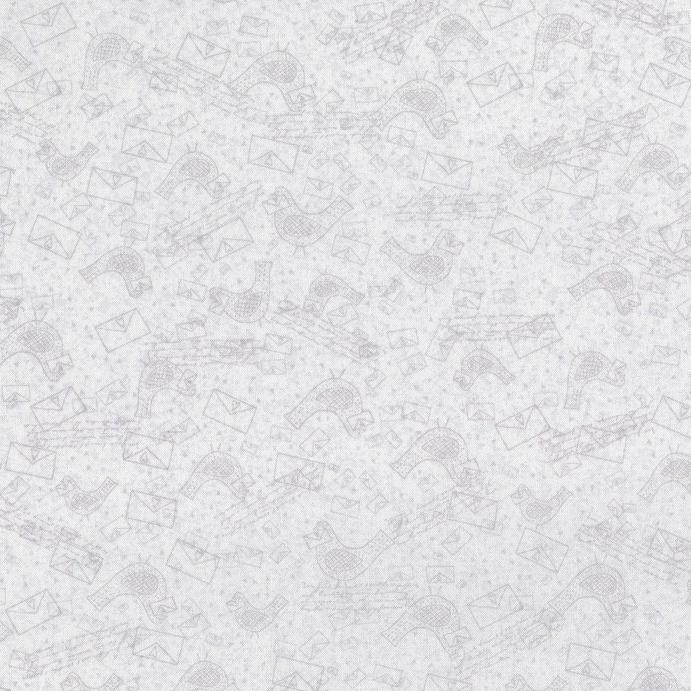 2857-001 LOVE BIRDS - WHITE