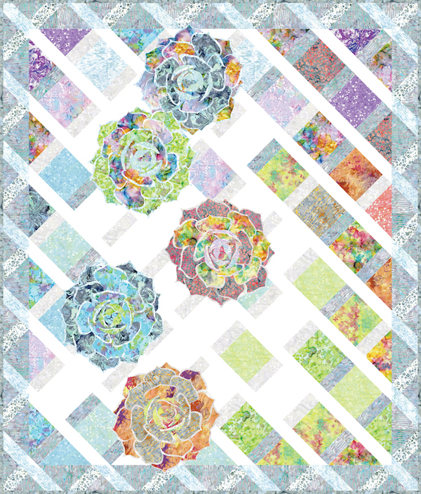 """Summer Trellis"" Free Pattern designed by Flaurie & Finch from RJR Fabrics"