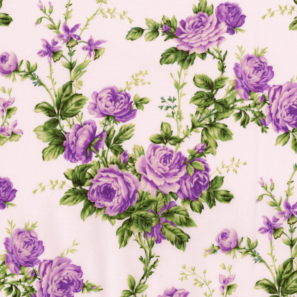 3144-001  COTTAGE ROSE-LAVANDER