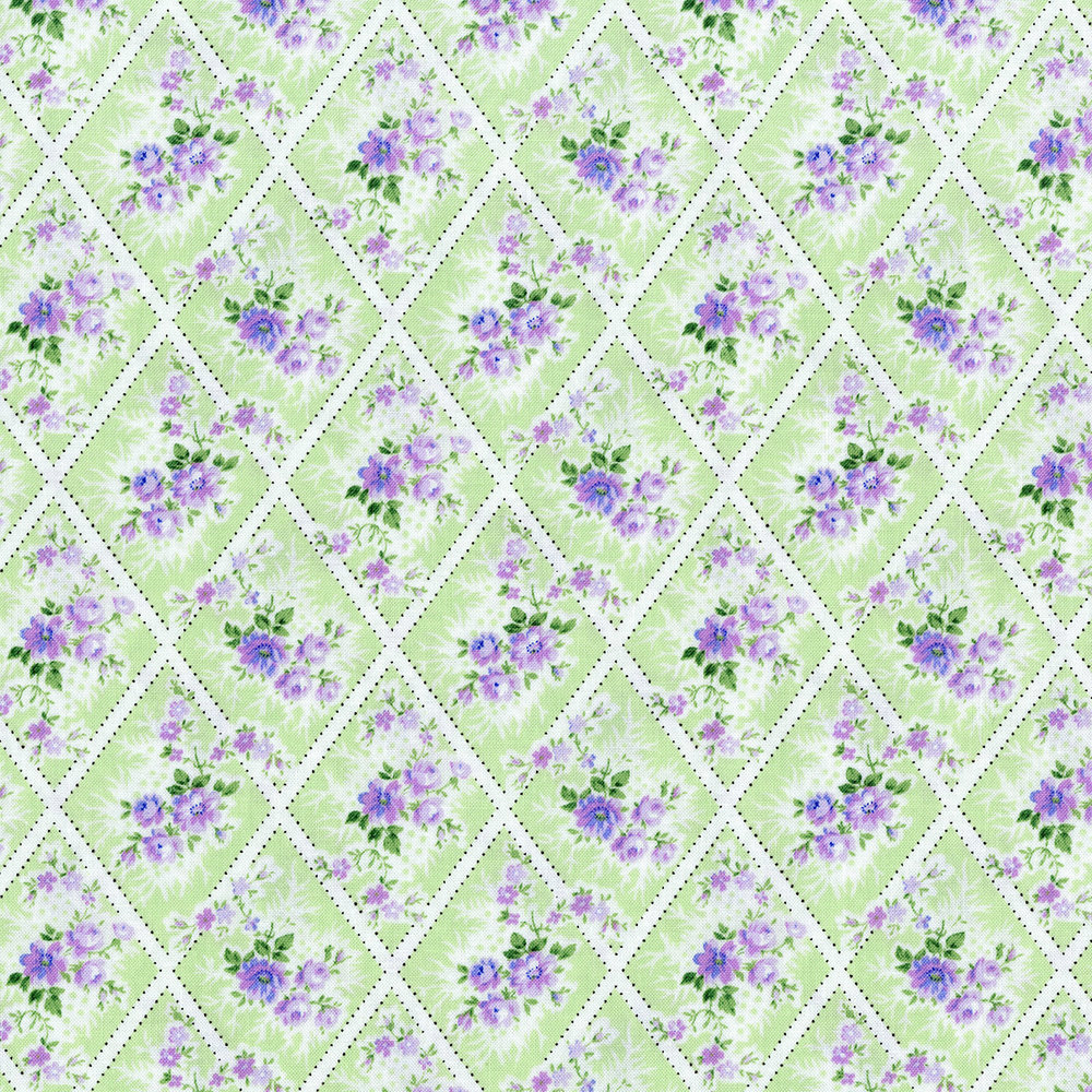 3147-001  MINIATURE BOUQUET-LAVENDER
