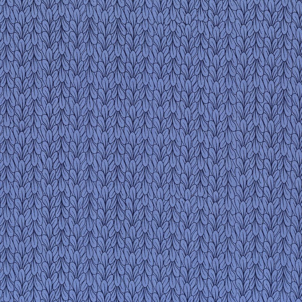 3041-003 LEAVES-BLUE BONNET