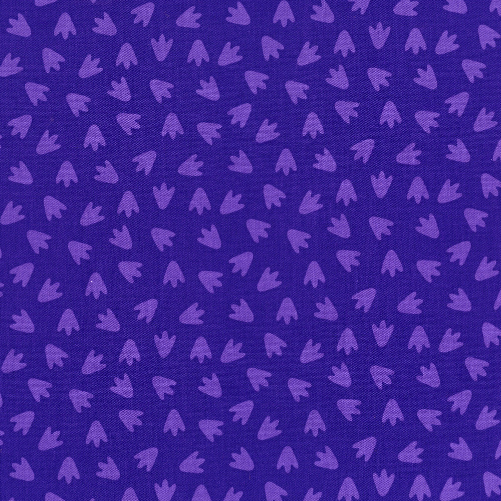 3132-002  FOOTPRINTS-PURPLE