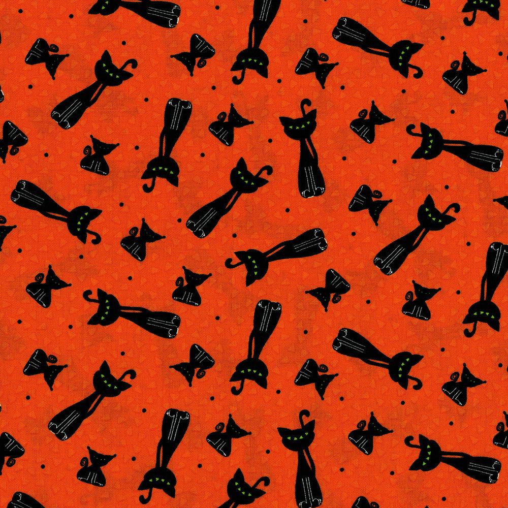 3125-001 SCARY KITTY TOSS-PUMPKIN ORANGE