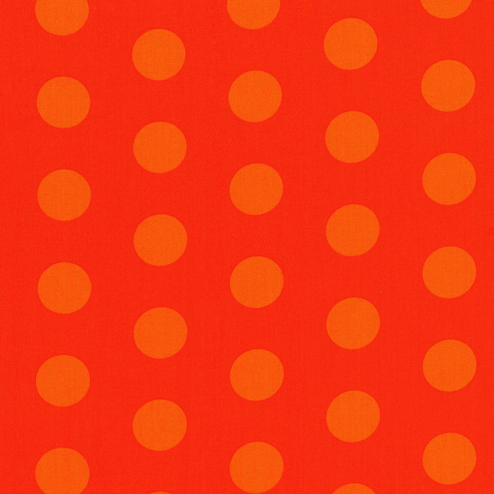 3127-001  BIG OL DOTS-PUMPKIN ORANGE