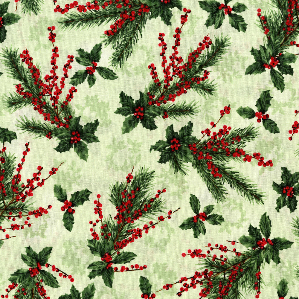 3155-001  HOLLY JOLLY-RADIANT SAGE