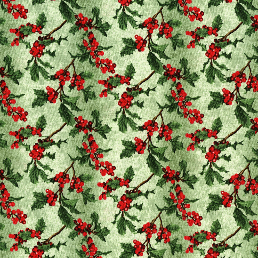 3156-002  BOUGHS OF HOLLY-RADIANT VANILLA