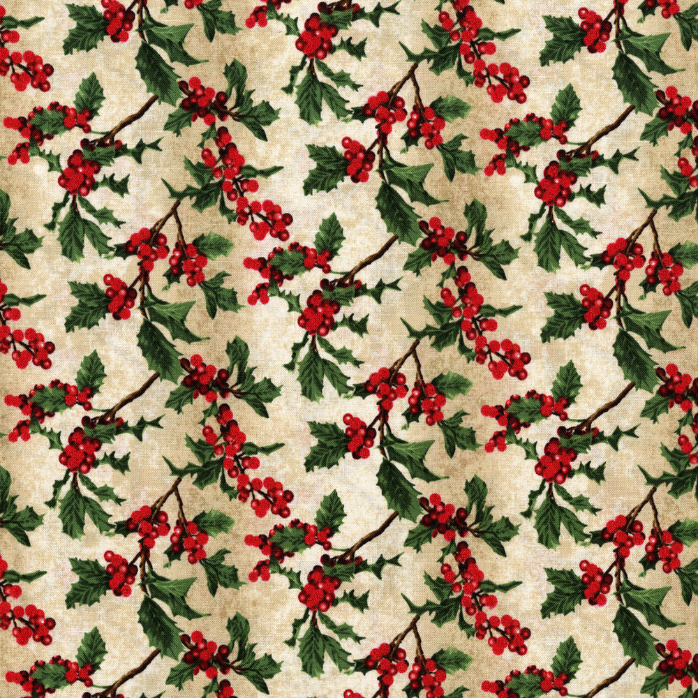 3156-003  BOUGHS OF HOLLY-RADIANT SAGE