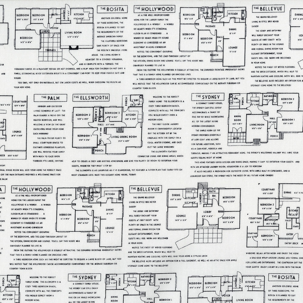 3227-001  FLOOR PLANS-BLACK ON WHITE