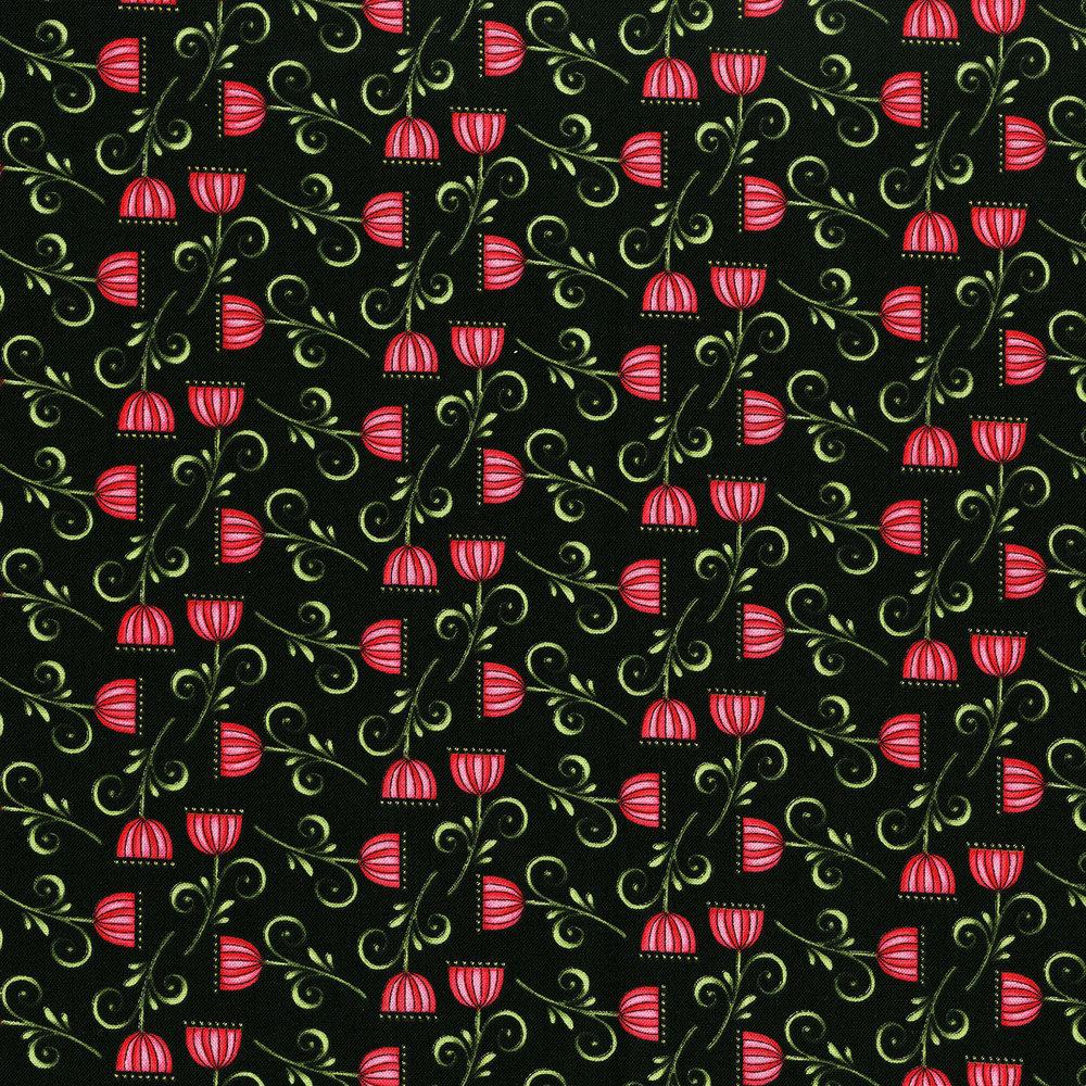 3247-002 SWEET BLOSSOM-BLACK
