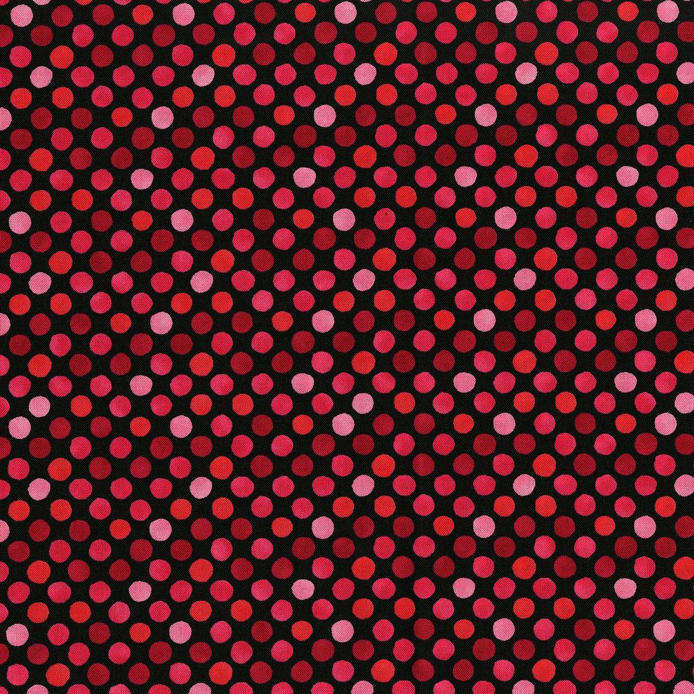 3249-006 GARDEN DOTS-PINK BLACK